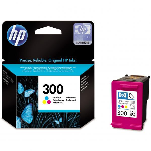 HP originální ink blistr, CC643EE#301, No.300, color, 165str., 4ml, HP DeskJet D2560, F4280, F4500