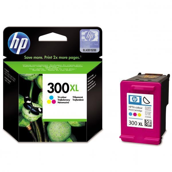 HP originální ink CC644EE, No.300XL, color, 440str., 11ml, HP DeskJet D2560, F4280, F4500