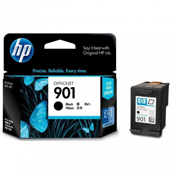 HP originální ink CC653AE, No.901, black, 200str., 4ml, HP OfficeJet J4580