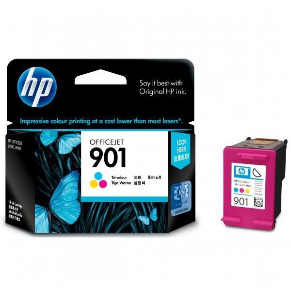 HP originální ink CC656AE#UUQ, No.901, color, 360str., 9ml, HP OfficeJet J4580