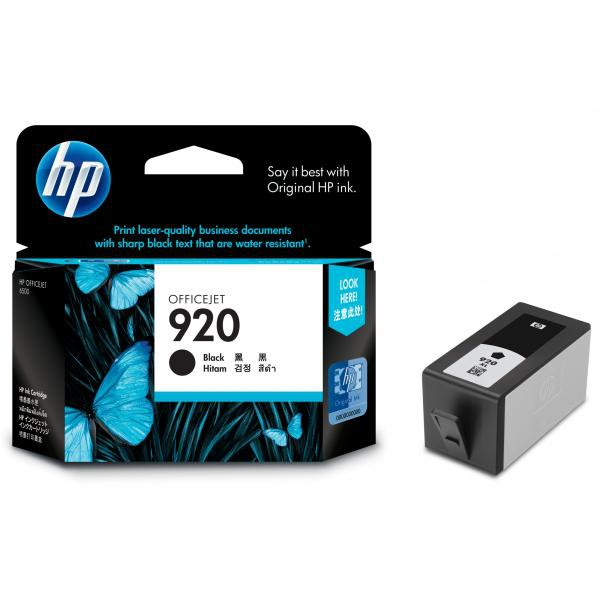 HP originální ink CD971AE, No.920, black, 420str., HP Officejet