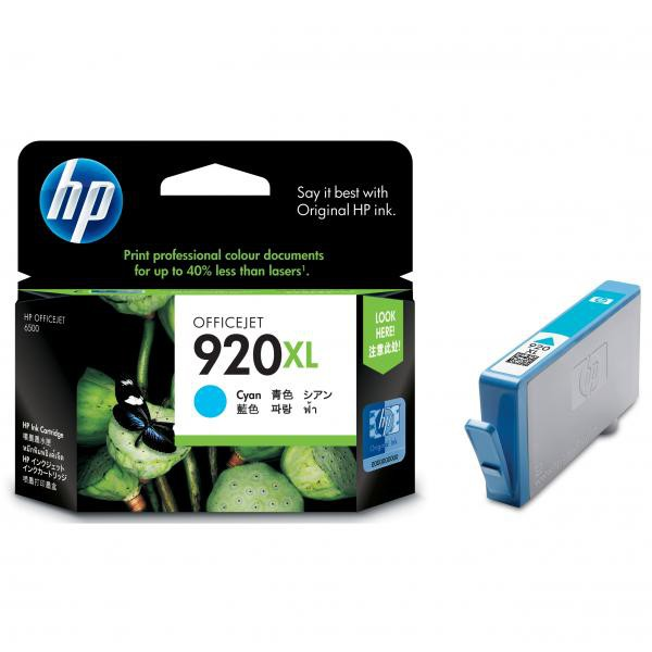 HP originální ink CD972AE#BGY, No.920XL, cyan, 700str., HP Officejet