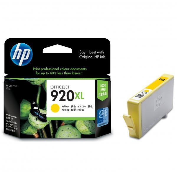 HP originální ink CD974AE#BGX, No.920XL, yellow, 700str., HP Officejet