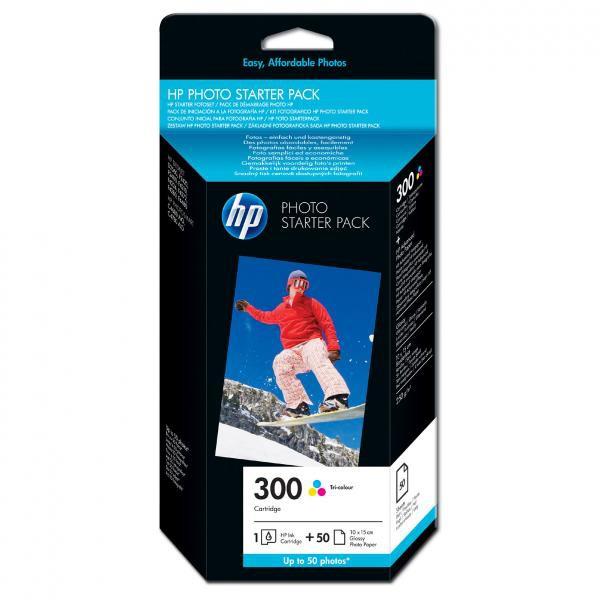 HP originální ink CG846EE, No.300, cyan/magenta/yellow, 50ks, HP Deskjet D2560, F4280, F4500
