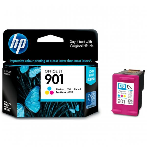 HP originální ink blistr, CC656AE#231, No.901, color, 360str., 9ml, HP OfficeJet J4580