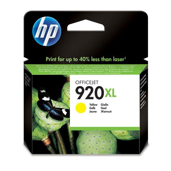 HP originální ink blistr, CD974AE#231, No.920XL, yellow, 700str., HP Officejet