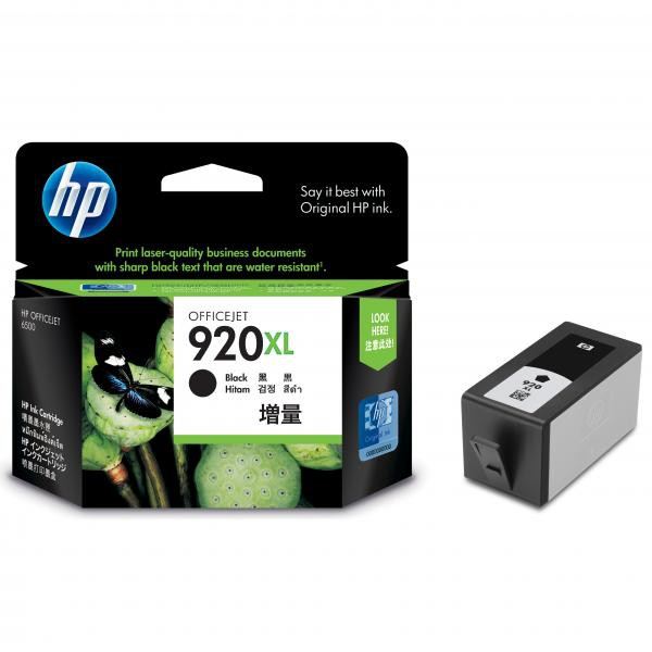 HP originální ink blistr, CD975AE, No.920XL, black, 1200str., HP Officejet