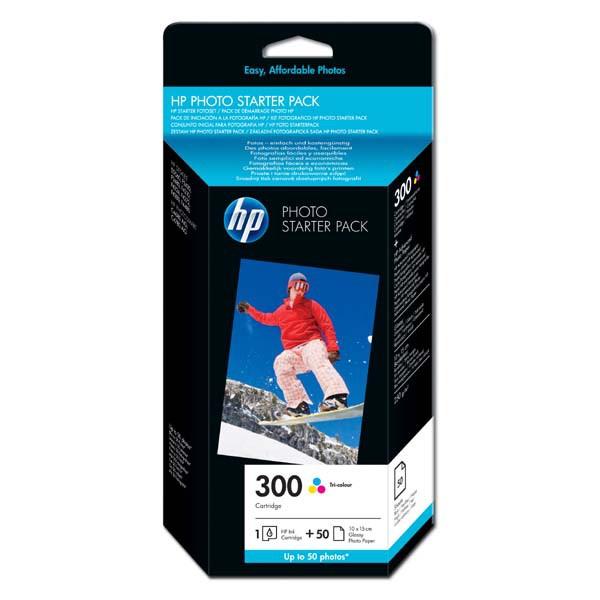 HP originální ink blistr, CG846EE#301, No.300, cyan/magenta/yellow, 50ks, HP Deskjet D2560, F4280, F4500