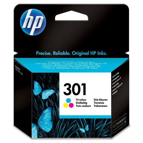 HP originální ink CH562EE, No.301, color, 165str., HP HP Deskjet 1000, 1050, 2050, 3000, 3050