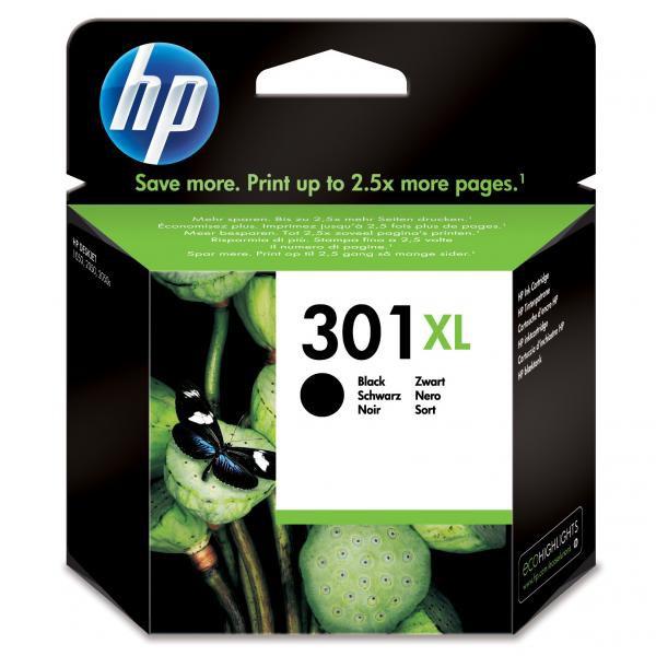 HP originální ink CH563EE, No.301XL, black, 480str., HP HP Deskjet 1000, 1050, 2050, 3000, 3050
