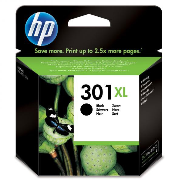 HP originální ink blistr, CH563EE#301, No.301XL, black, 480str., HP HP Deskjet 1000, 1050, 2050, 3000, 3050