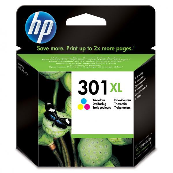 HP originální ink blistr, CH564EE#301, No.301XL, color, 330str., HP HP Deskjet 1000, 1050, 2050, 3000, 3050