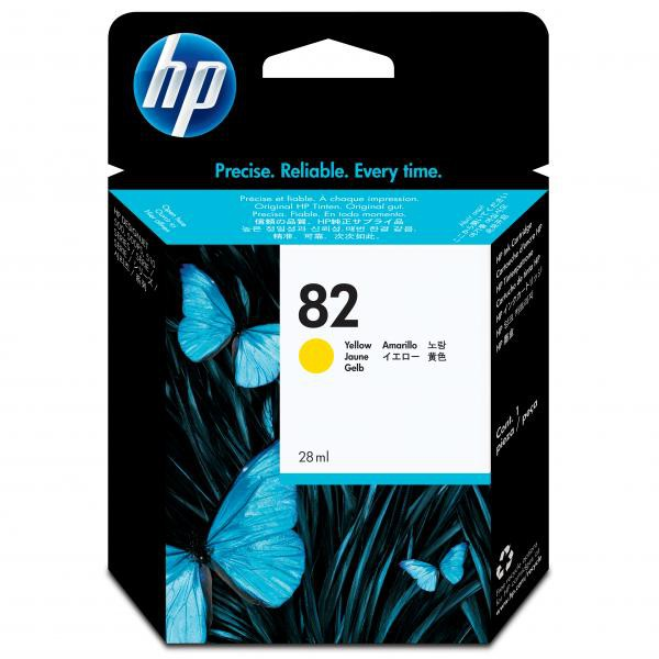 HP originální ink CH568A, HP 82, yellow, 28ml, HP HP DesignJet 510