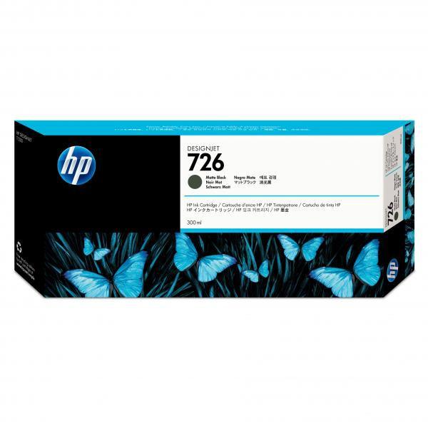 HP originální ink CH575A, No.726, matte black, 300ml, HP HP DesignJet T1200