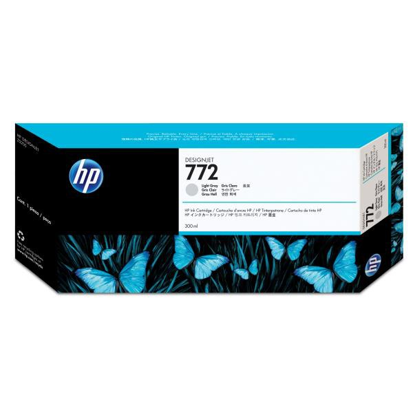 HP originální ink CN634A, light grey, 300ml, HP 772, HP