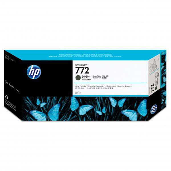 HP originální ink CN635A, matte black, 300ml, HP 772, HP