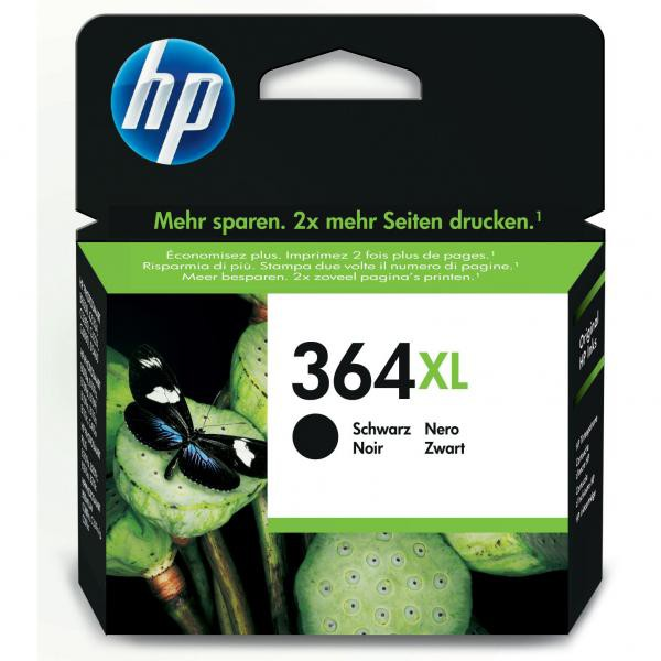 HP originální ink CN684EE, No.364XL, black, 550str., 18ml, HP Photosmart e-All-in-One, Premium, Plus, C5380