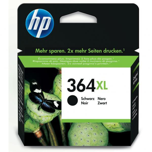 HP originální ink CN684EE, No.364XL, black, 550str., 18ml, HP Photosmart e-All-in-One, Premium, Plus, C5380
