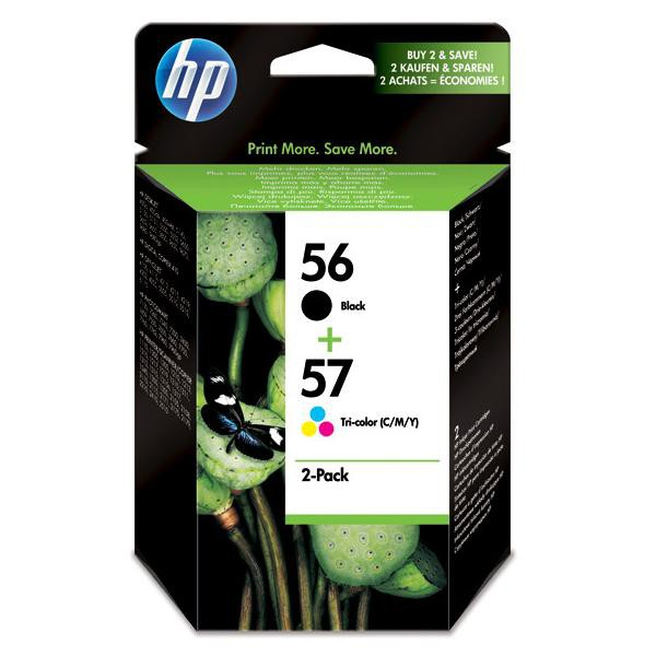 HP originální ink SA342AE, No.56 + No.57, black/color, 520/500str., 2ks, HP 2-Pack, C6656 + C6657