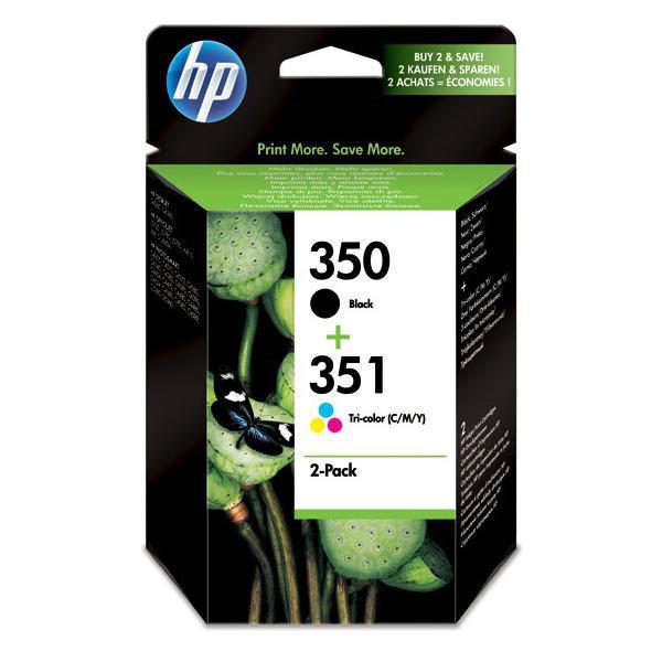 HP originální ink SD412EE, HP 350 + HP 351, black/color, 200/170str., 2ks, HP 2-Pack, CB335EE + CB337EE