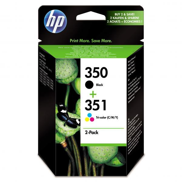 HP originální ink blistr, SD412EE#231, No.350 + No.351, black/color, 200/170str., 2ks, HP 2-Pack, CB335EE + CB337EE