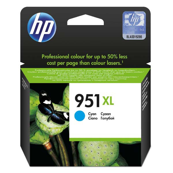 HP originální ink CN046AE, No.951XL, cyan, 1500str., 24ml, HP Officejet Pro 8100 ePrinter,8620