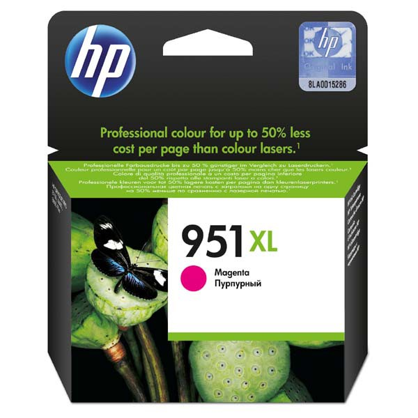 HP originální ink CN047AE, No.951XL, magenta, 1500str., 17ml, HP Officejet Pro 8100 ePrinter,8620