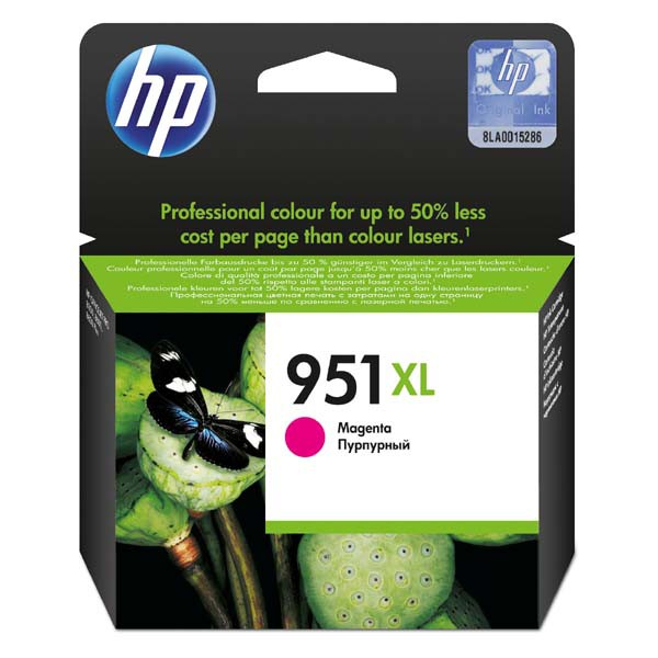 HP originální ink blistr, CN047AE#301, No.951XL, magenta, 1500str., 17ml, HP Officejet Pro 8100 ePrinter,8620
