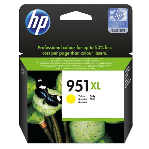 HP originální ink CN048AE, No.951XL, yellow, 1500str., 17ml, HP Officejet Pro 8100 ePrinter,8620