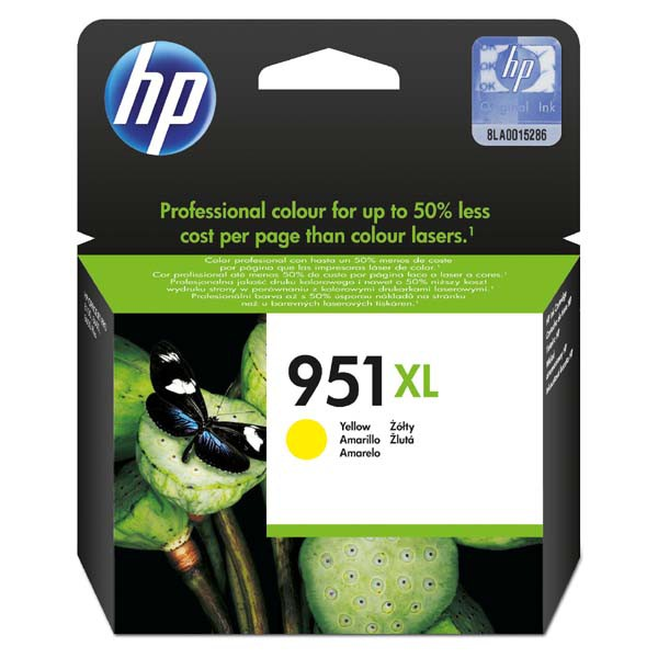 HP originální ink blistr, CN048AE#301, No.951XL, yellow, 1500str., 17ml, HP Officejet Pro 8100 ePrinter,8620