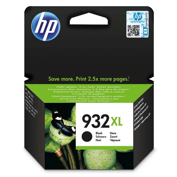 HP originální ink blistr, CN053AE#301, No.932XL, black, HP