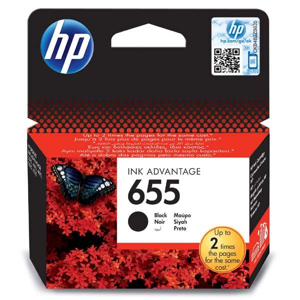 HP originální ink blistr, CZ109AE#302, No.655, black, 550str., HP Deskjet Ink Advantage 3525, 5525, 6525, 4615 e-AiO
