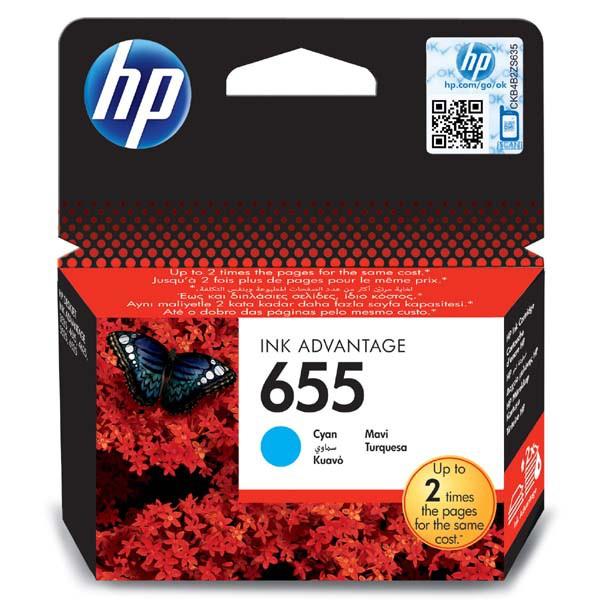 HP originální ink CZ110AE#BHK, No.655, cyan, 600str., HP Deskjet Ink Advantage 3525, 5525, 6525, 4615 e-AiO