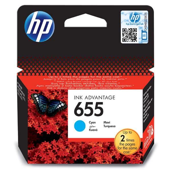 HP originální ink blistr, CZ110AE#302, No.655, cyan, 600str., HP Deskjet Ink Advantage 3525, 5525, 6525, 4615 e-AiO