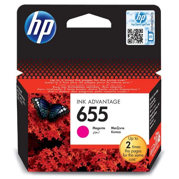 HP originální ink CZ111AE#BHK, No.655, magenta, 600str., HP Deskjet Ink Advantage 3525, 5525, 6525, 4615 e-AiO