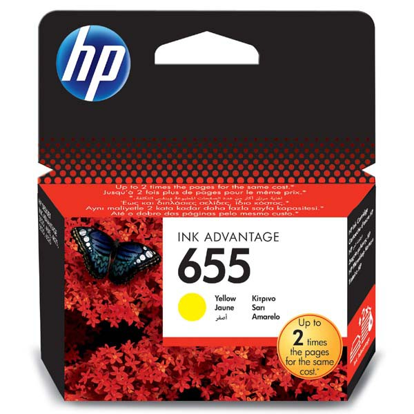 HP originální ink CZ112AE, HP 655, yellow, 600str., HP Deskjet Ink Advantage 3525, 5525, 6525, 4615 e-AiO