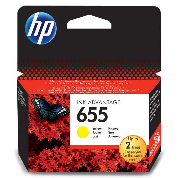HP originální ink CZ112AE, HP 655, yellow, blistr, 600str., HP Deskjet Ink Advantage 3525, 5525, 6525, 4615 e-AiO