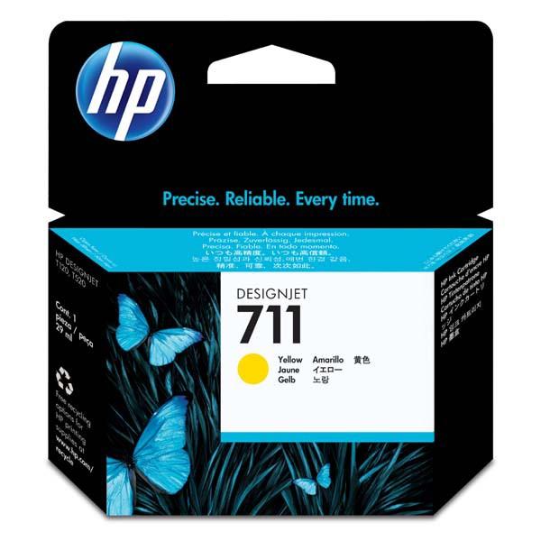 HP originální ink CZ132A, No.711, yellow, 29ml, HP DesignJet T120, T520