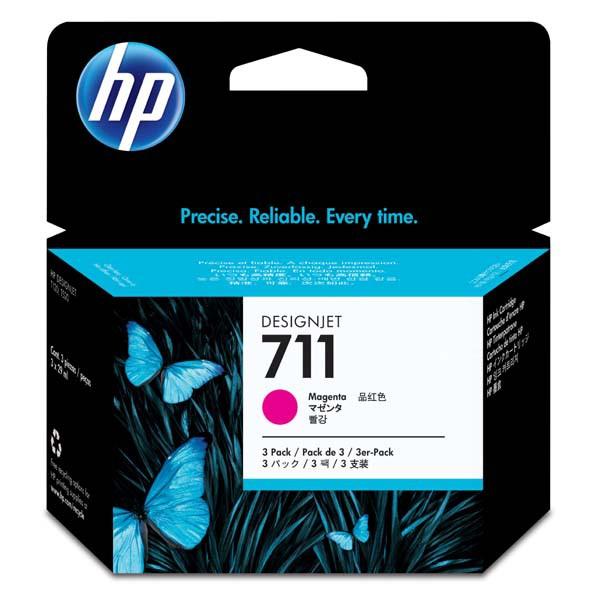 HP originální ink CZ135A, No.711, magenta, 3x29ml, HP DesignJet T120, T520