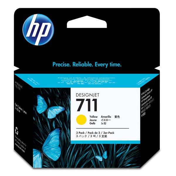 HP originální ink CZ136A, No.711, yellow, 3x29ml, HP DesignJet T120, T520