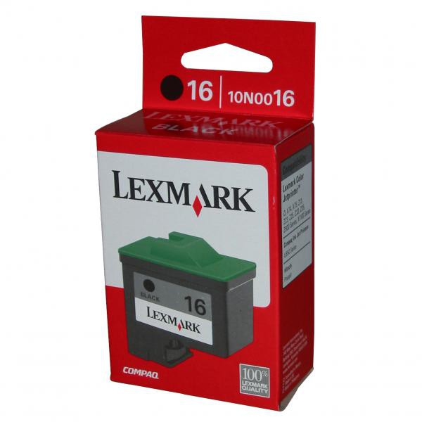 Lexmark originální ink 10N0016E, #16, black, 410str., Lexmark Z33, Z13, Z25, Z35
