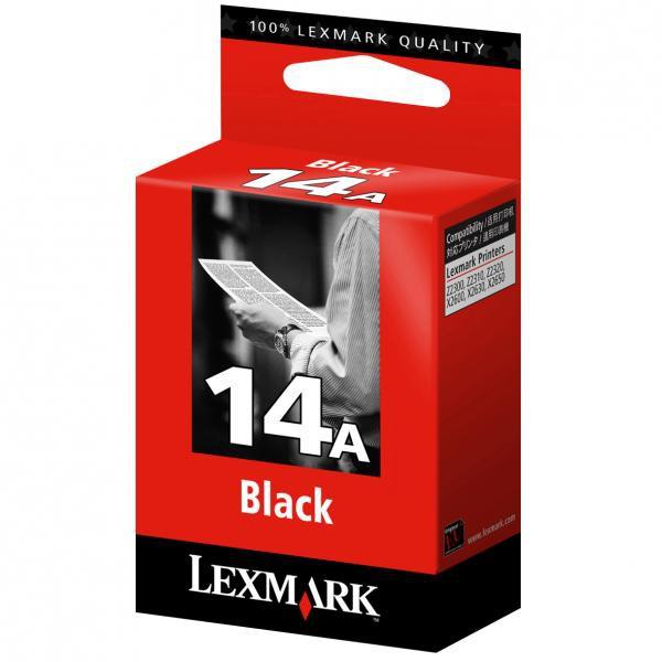 Lexmark originální ink 18C2080E, #14A, black, 175str., Lexmark Z2320, X2650