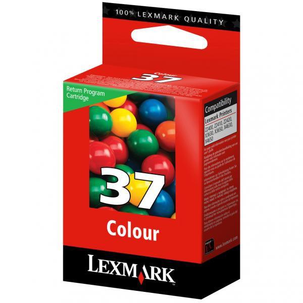 Lexmark originální ink 18C2140E, #37, color, return, 150str., Lexmark Z2420, X4650