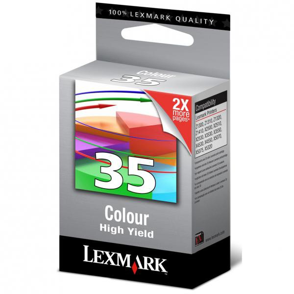 Lexmark originální ink blistr, 18C0035B, #35, color, 450str., Lexmark Z815, Z818, X5250, 5260, 5210, P915, P6250