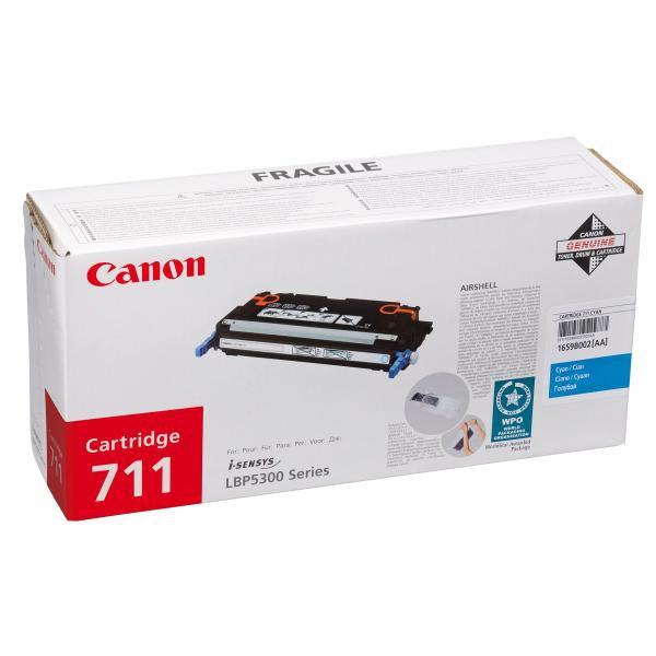 Canon originální toner CRG711, cyan, 6000str., 1659B002, Canon LBP-5300