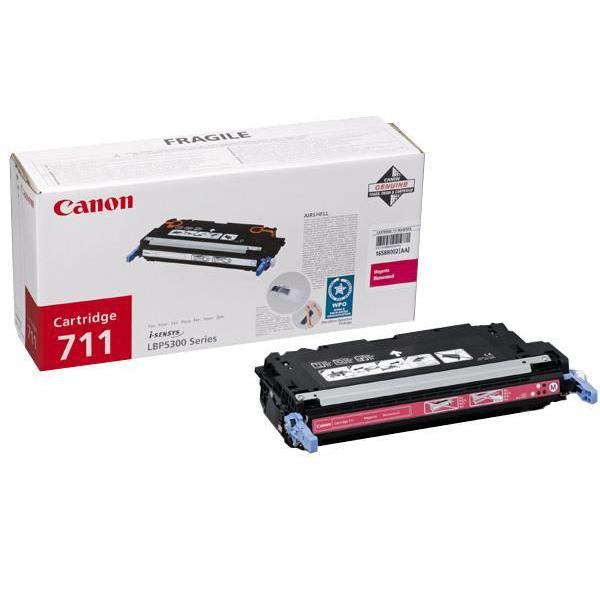Canon originální toner CRG711, magenta, 6000str., 1658B002, Canon LBP-5300
