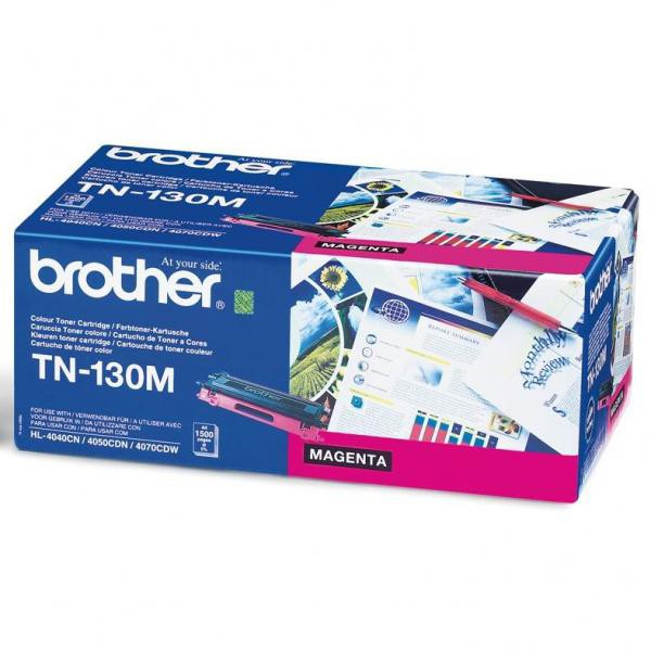 Brother originální toner TN130M, magenta, 1500str., Brother HL-4040CN, 4050CDN, DCP-9040CN, 9045CDN, MFC-9440C