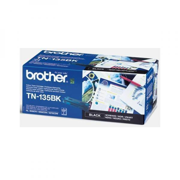 Brother originální toner TN135BK, black, 5000str., Brother HL-4040CN, 4050CDN, DCP-9040CN, 9045CDN, MFC-9840
