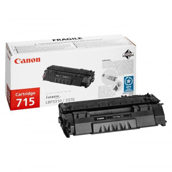 Canon originální toner CRG715, black, 3000str., 1975B002, Canon LBP-3310, 3370