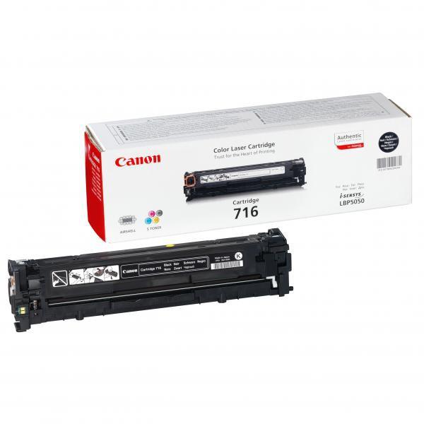 Canon originální toner CRG716, black, 2300str., 1980B002, Canon LBP-5050, 5050n, MF-8050